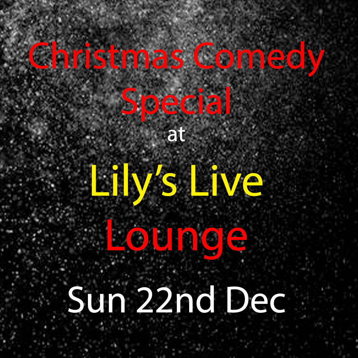 Christmas Comedy Special at Lily's Live Lounge - 22.12.19