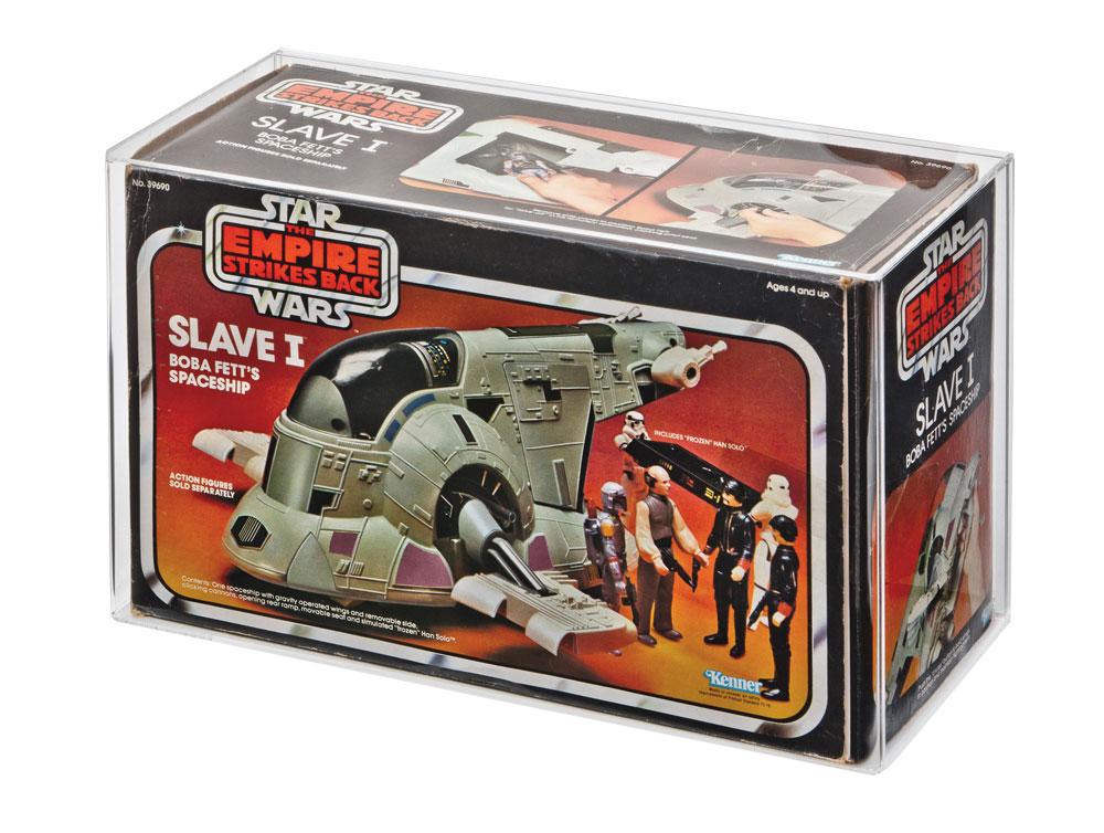 Vintage Star Wars Die Cast Display Stand Slave 1 STAND ONLY