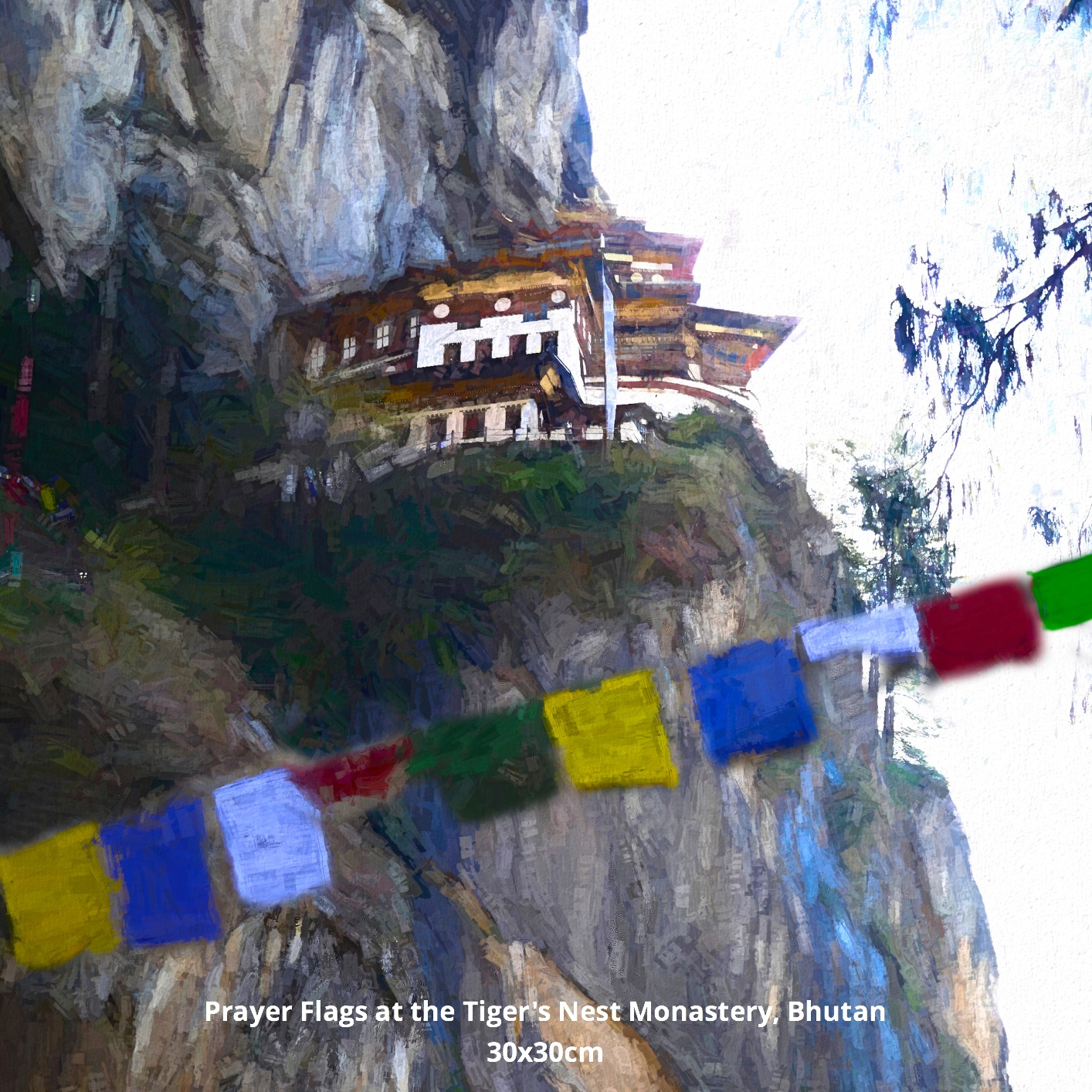 Prayer Flags at the Tiger's Nest Monastery, Bhutan