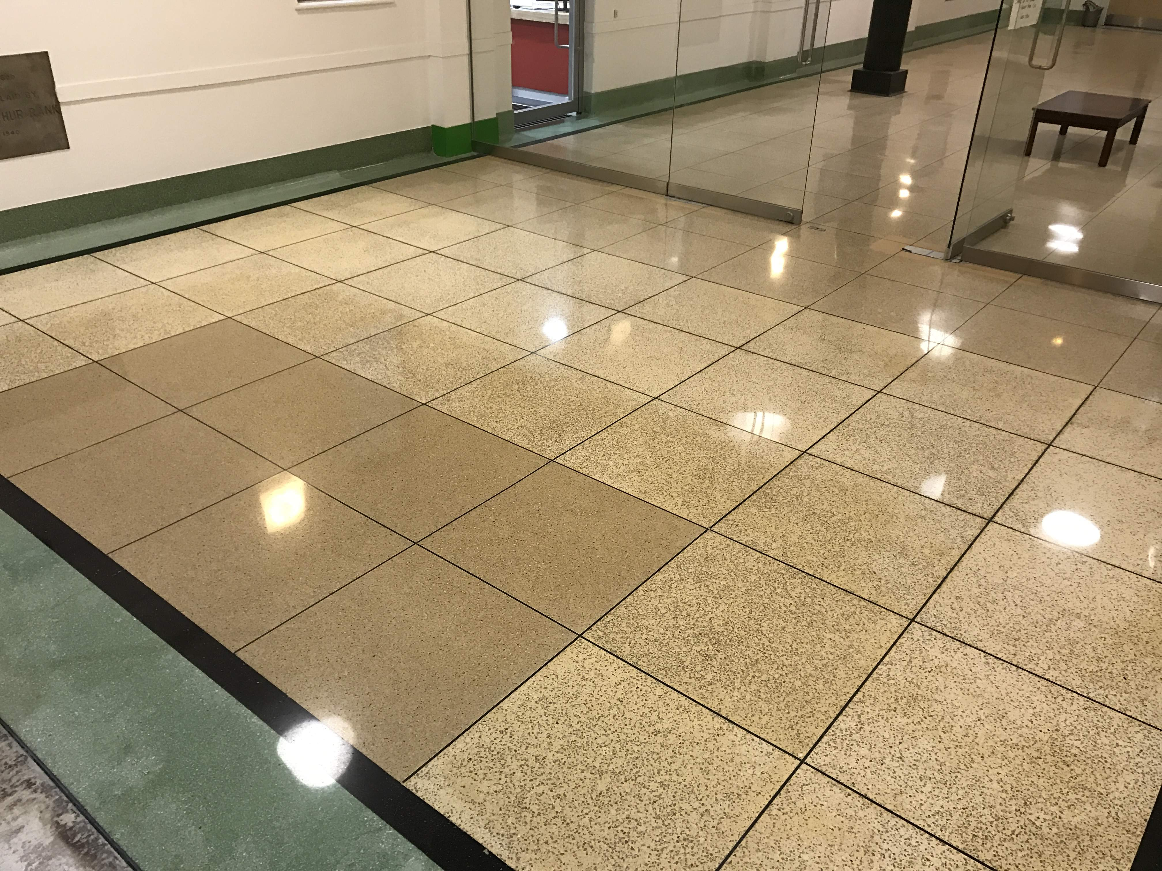Terrazzo floor polished finish - after