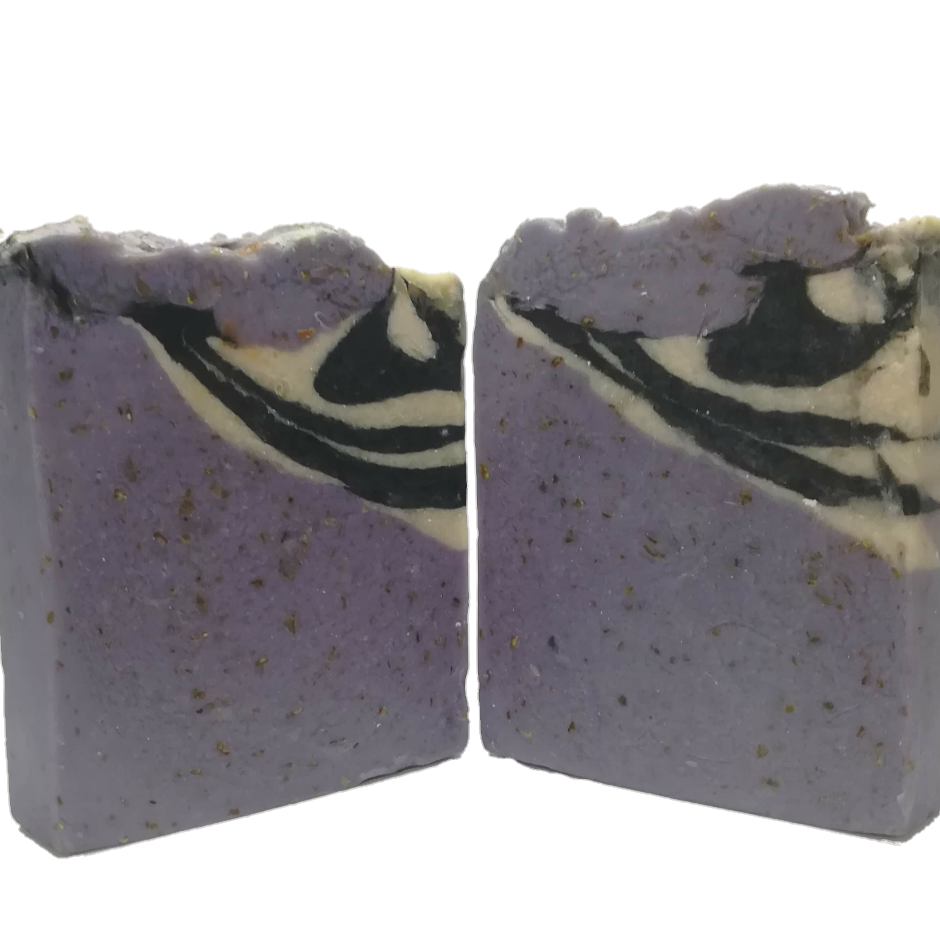 Zebra Lavender Soap with Oatmeal and Yoghurt