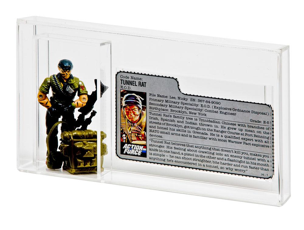 GI Joe Battle Corps Star Brigade Tall 10 x GW Acrylic Display Case ADC-022