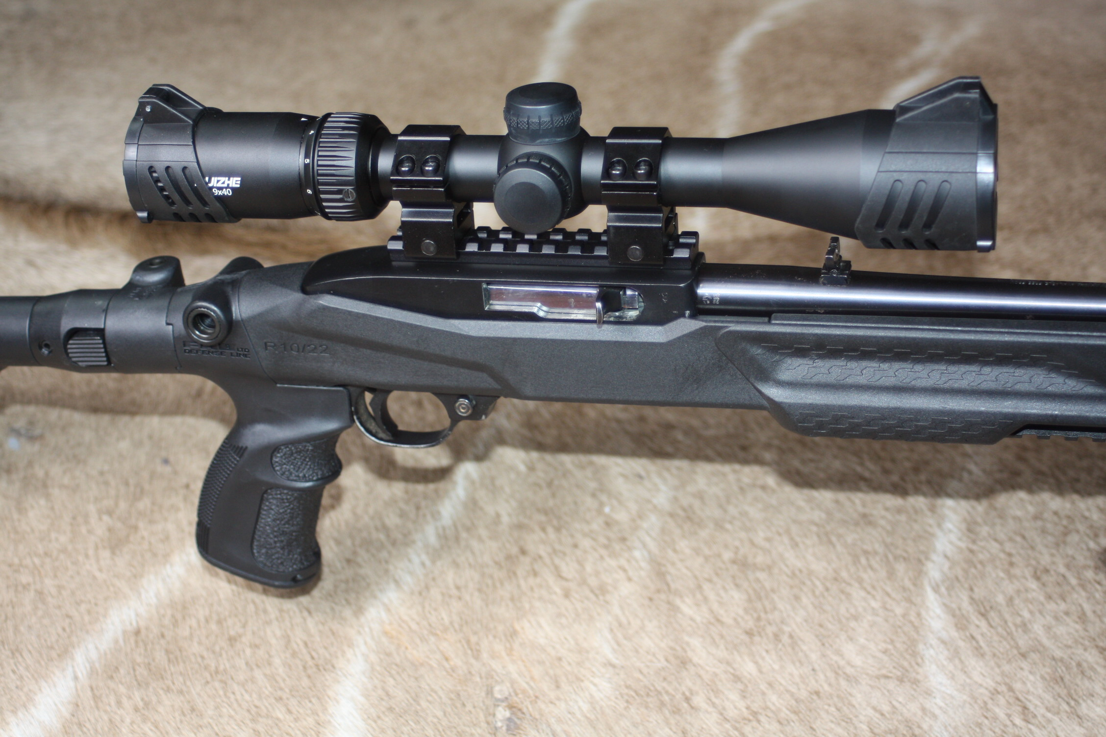 Ruger 10/22 Tactical .22 LR with FAB defense folding stock