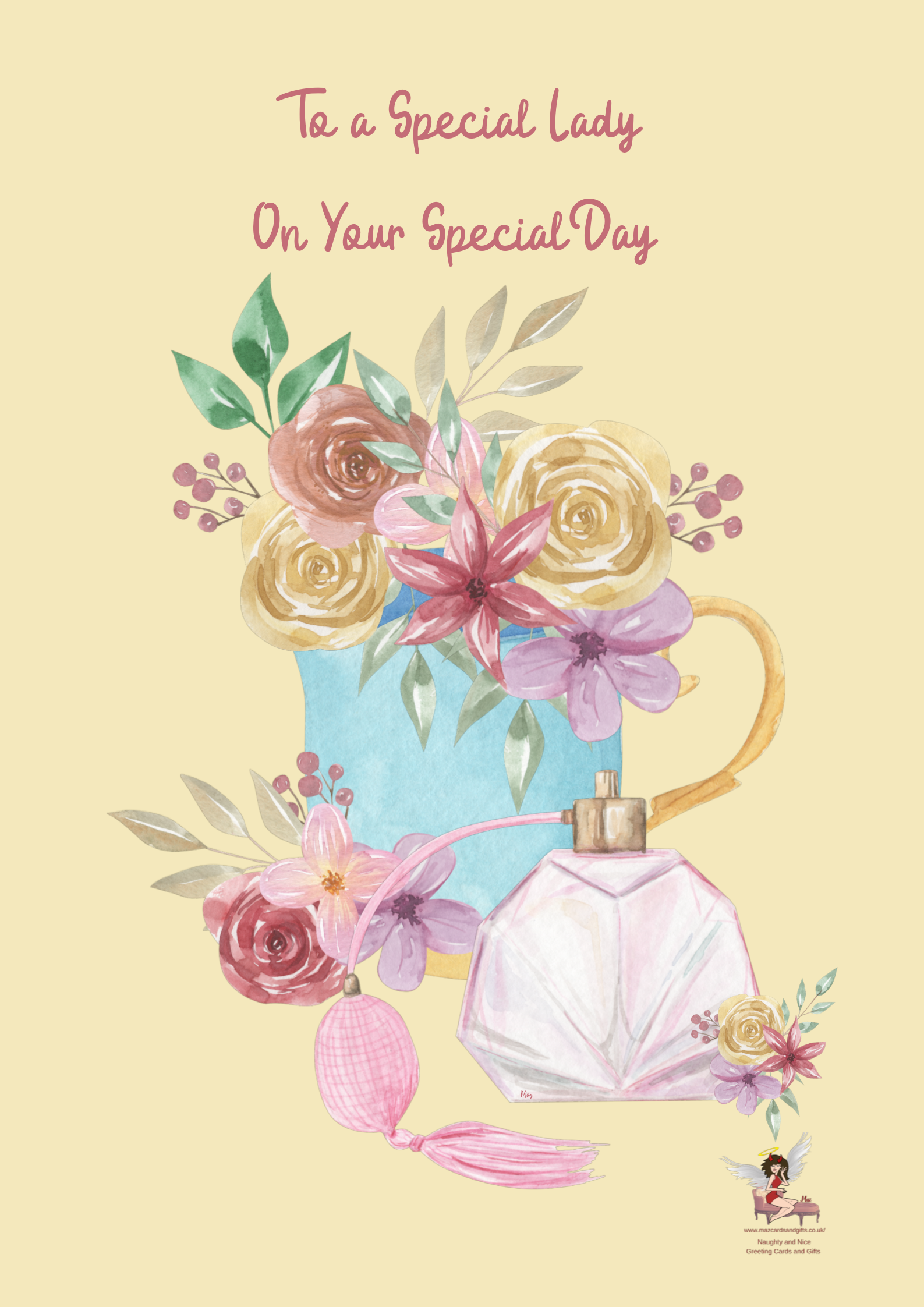 Special Lady Birthday Card ~ Order No 296