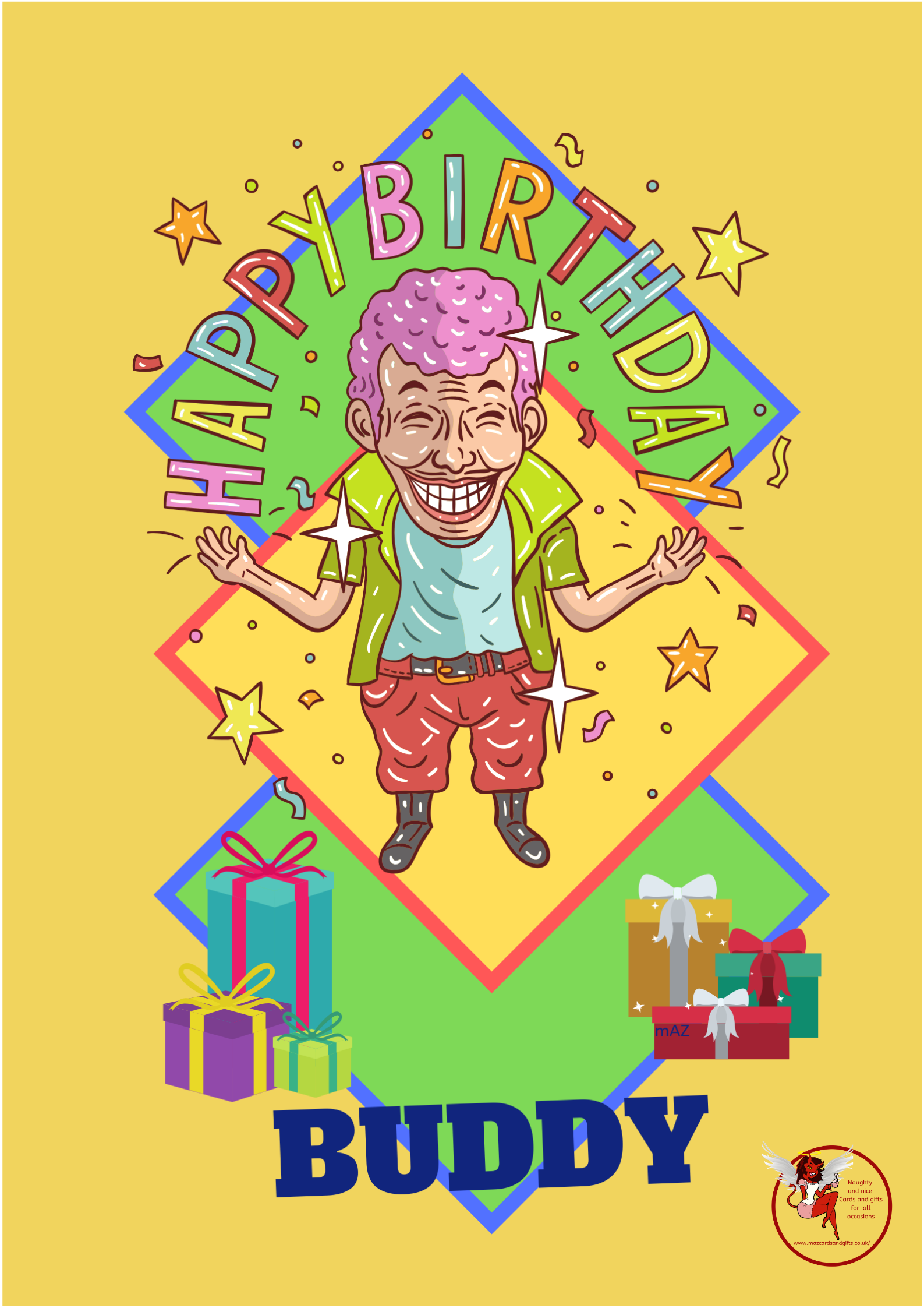 General Birthday - Cartoon - Funny - Birthday Buddy - Order No 081