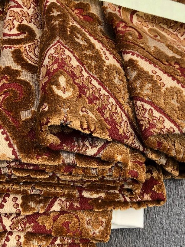 Fabulous New Huge Brocade Pinch Pleat Curtains W300 D404