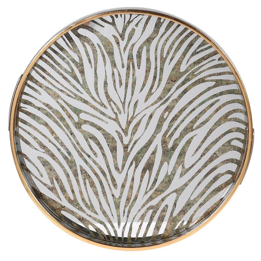 Gold Tray with Zebra Effect