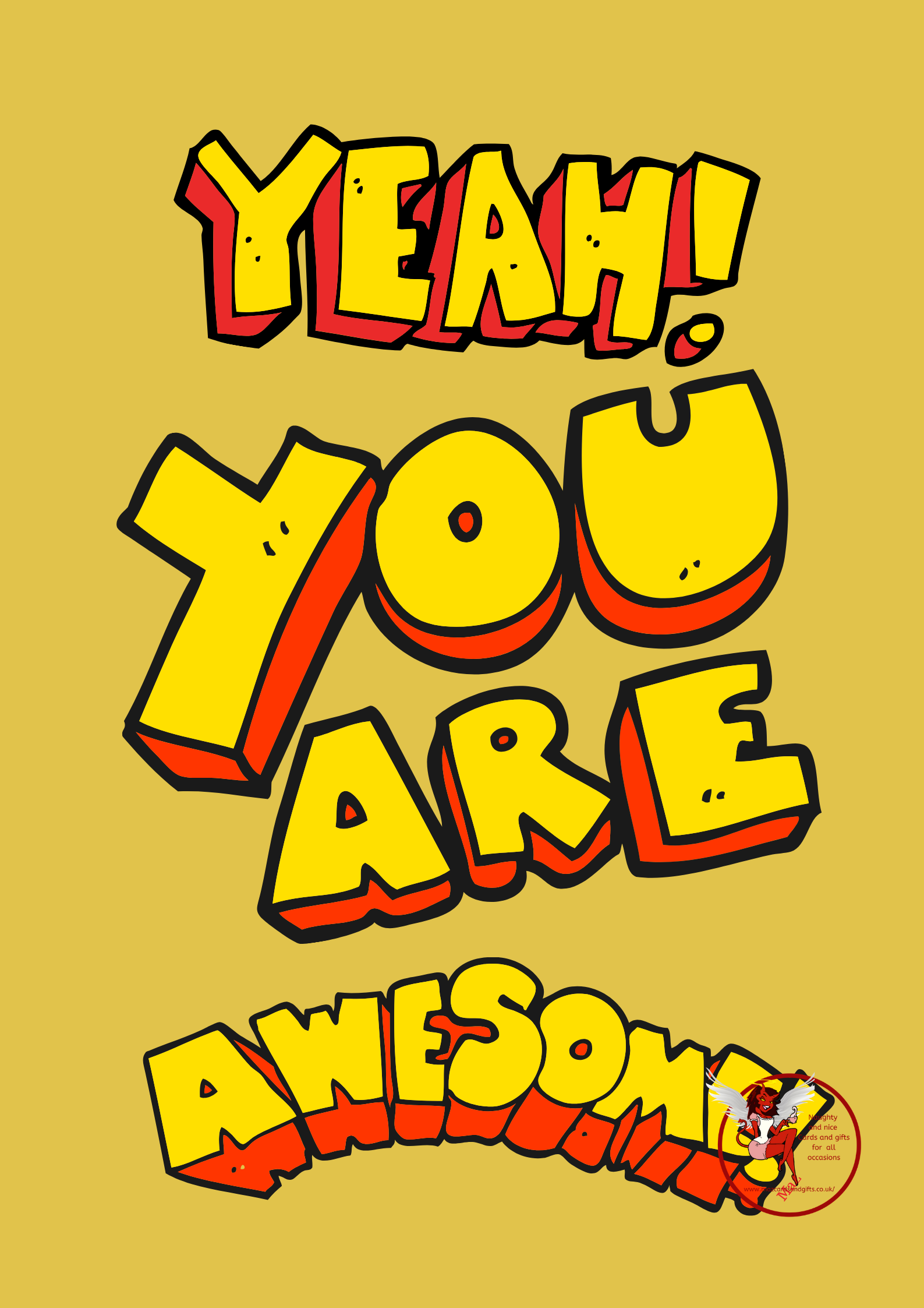 General Card - You are Awesome - Order No 078