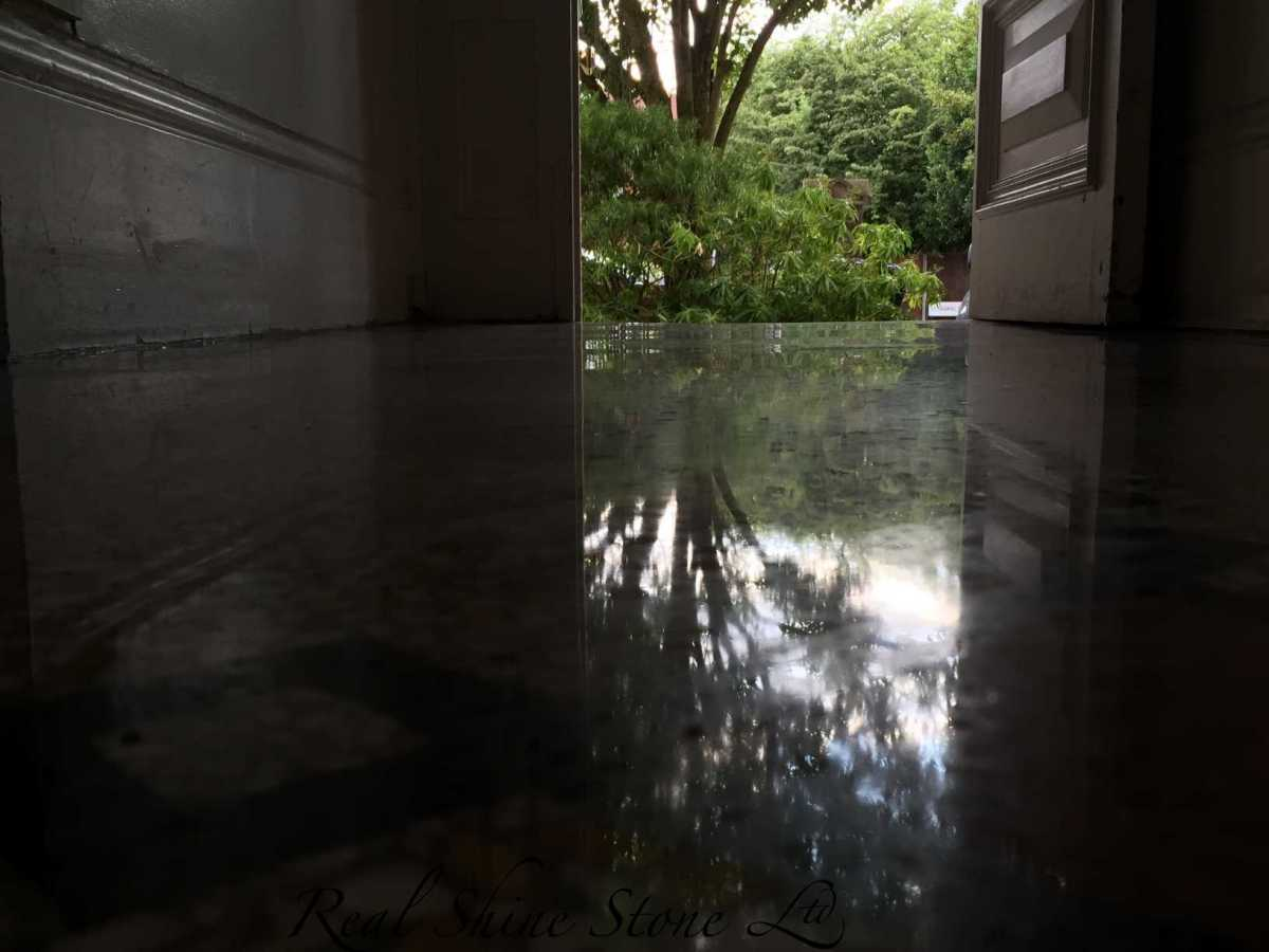 Terrazzo vitrification - floor reflection