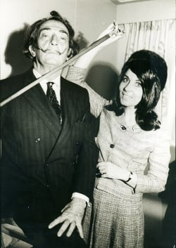 Salvador Dali with Adriana Rossi
