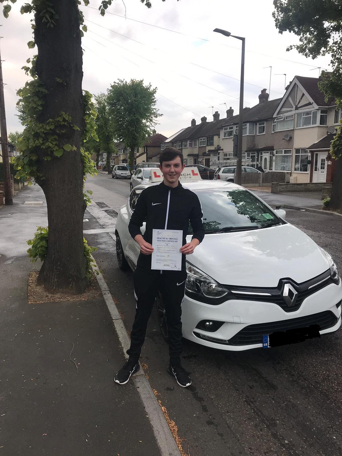 Pupil passed at Hornchurch driving test centre