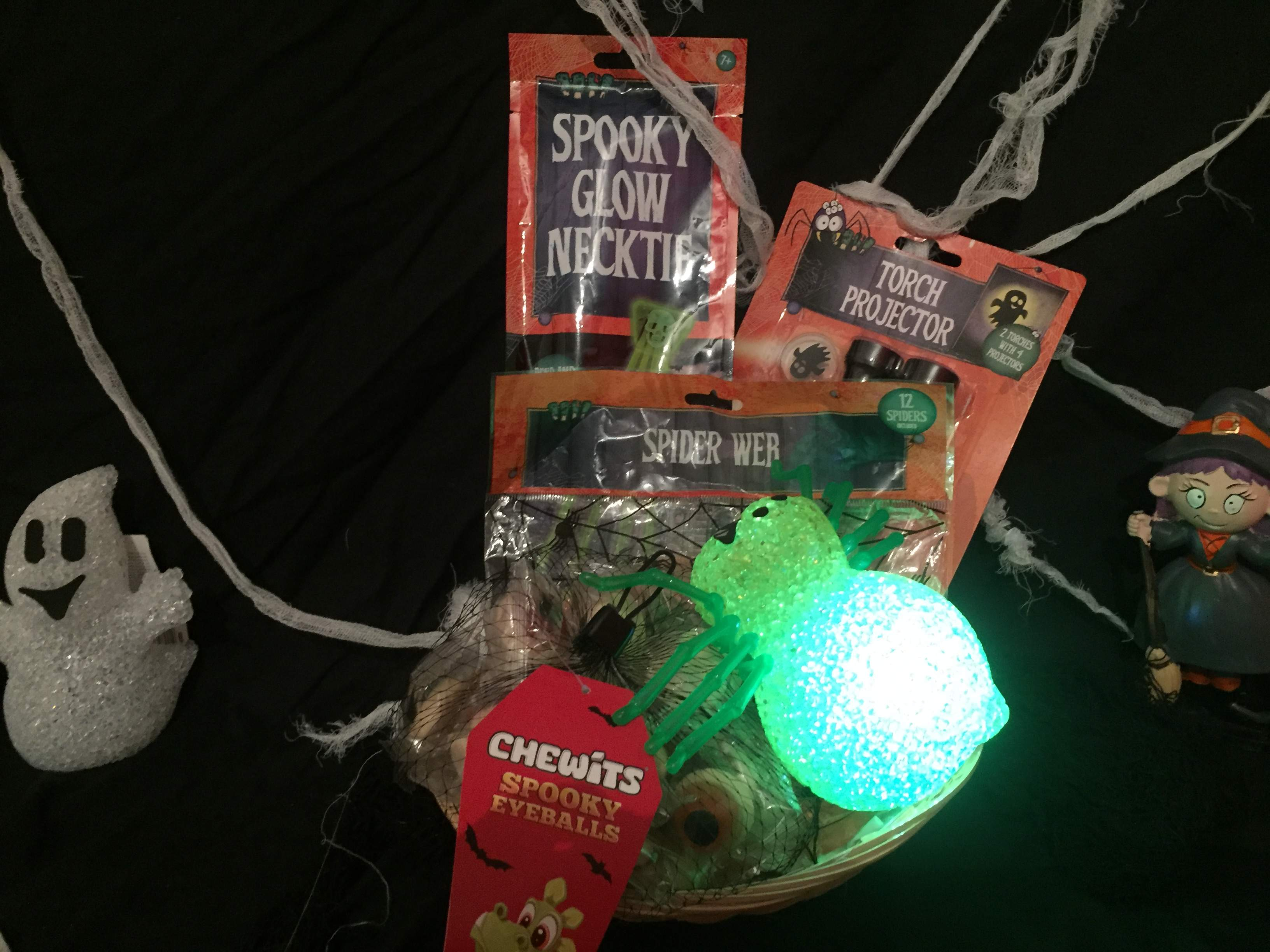 Halloween Spider Fun Treat Gift Basket