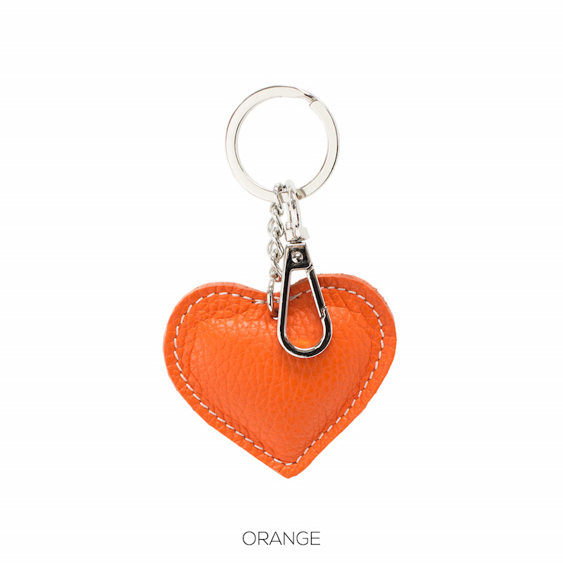 Leather Key-ring in Orange