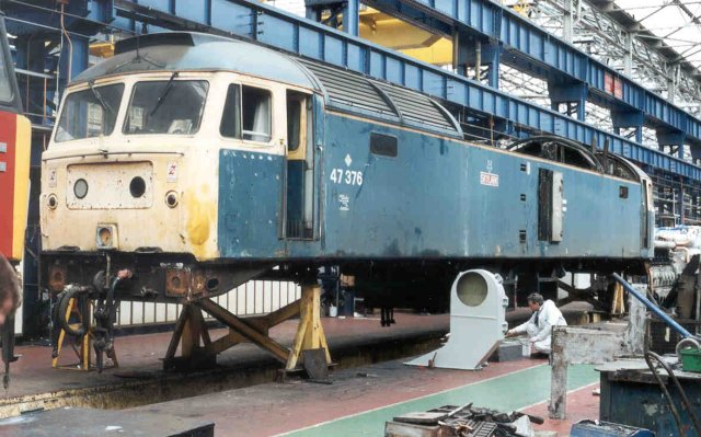47376 under overhaul at Crewe Works in 1995  (Darren Ford)