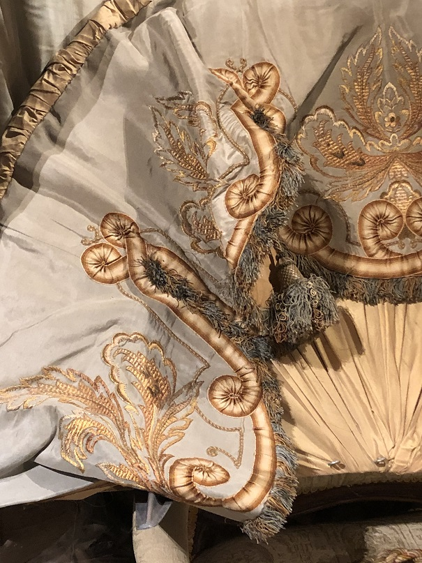 Fabulous Silk Bed Canopy/Corona with Tie Backs