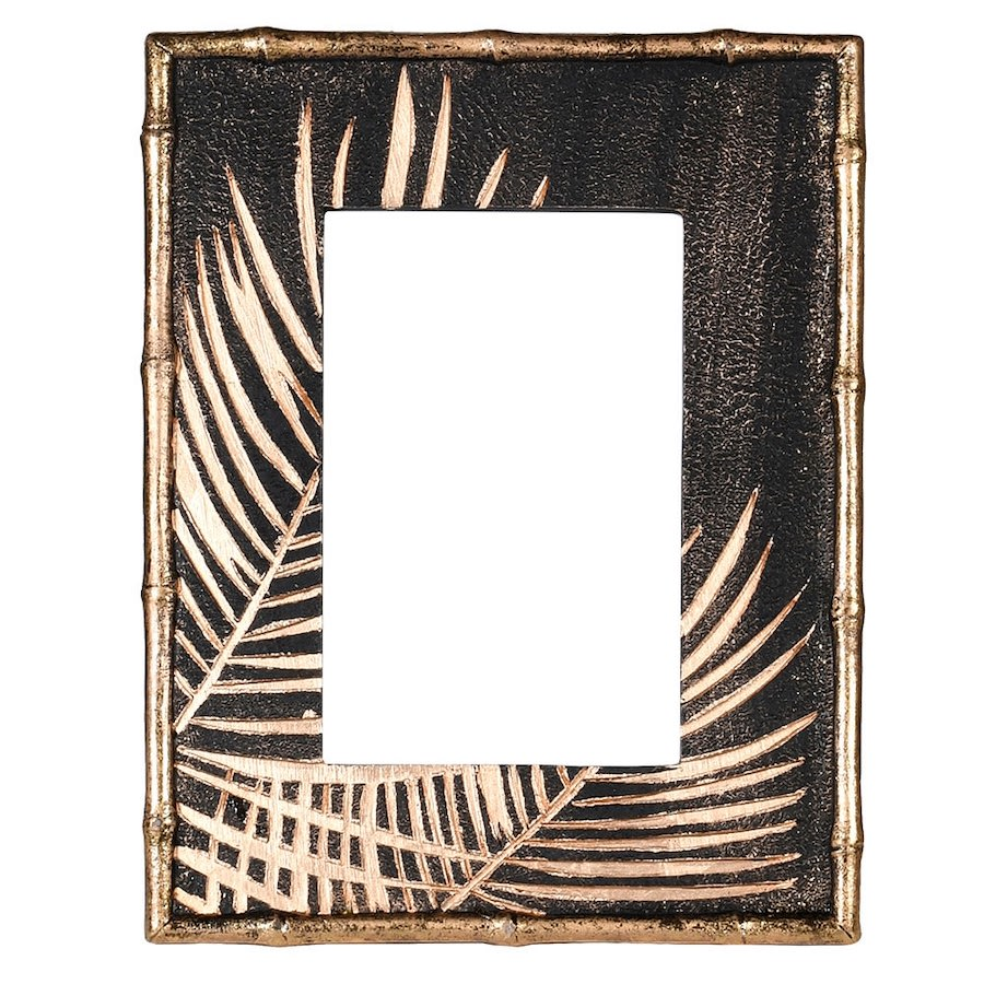 Black & Gold Palm Picture Frame