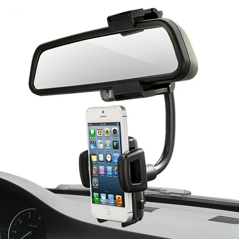 Car Rearview Mirror Mount Phone Holder Universal