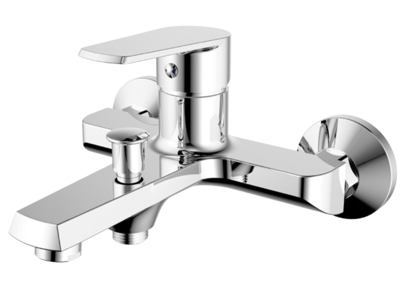 Gladys Bath Shower Mixer with Legs for Deck Mounting