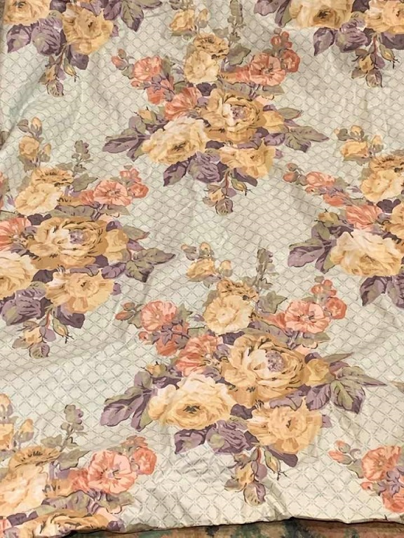 Lovely Ramm Fabric Chintz Pencil Pleat Curtains W193 D251