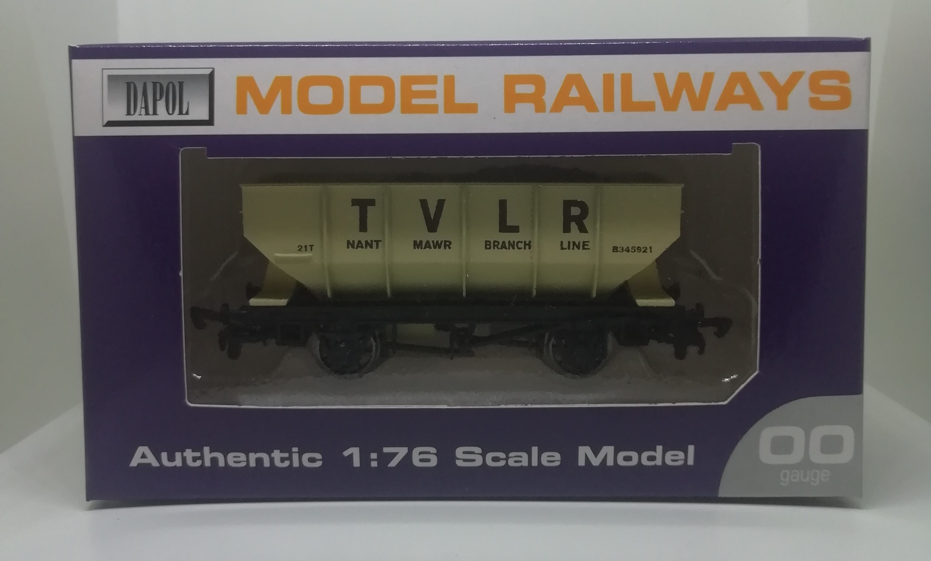 Traditional Hopper Wagon with TVLR Logo - 1:76 Scale Model / 00 Gauge