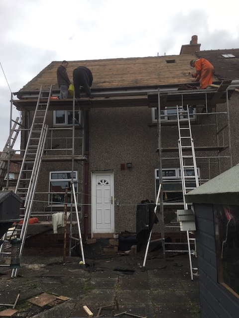Replacing an old roof in Irvine, Ayrshire