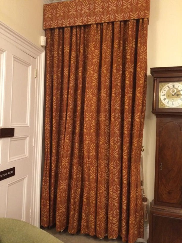 Pencil Pleat Rust coloured Interlined Curtains W193 D292