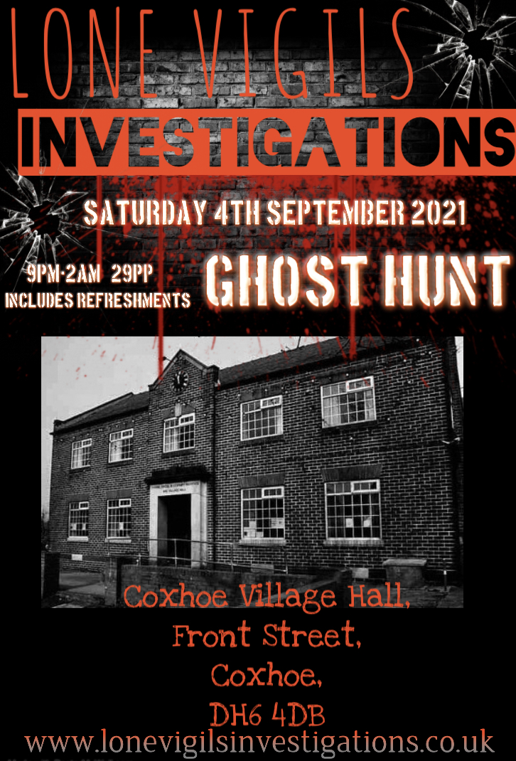 Coxhoe Village Hall Saturday 4th September 2021