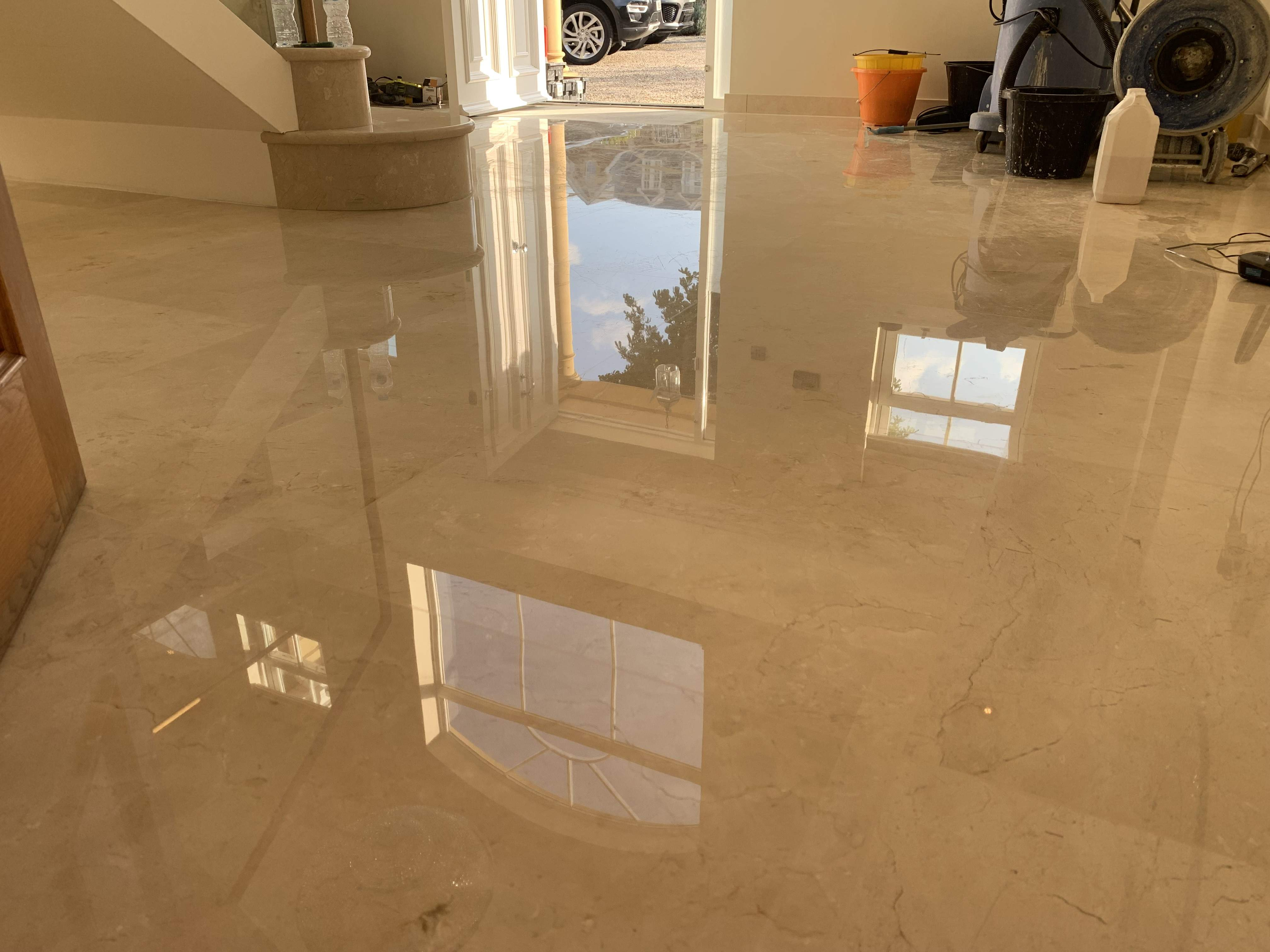 marble floor vitrification