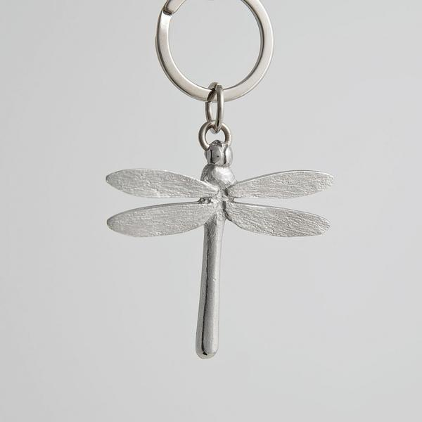 Pewter Key Ring - Dragonfly