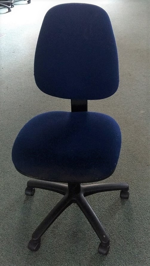 Office / Computer Chair (Used) - Blue or Purple - without arms