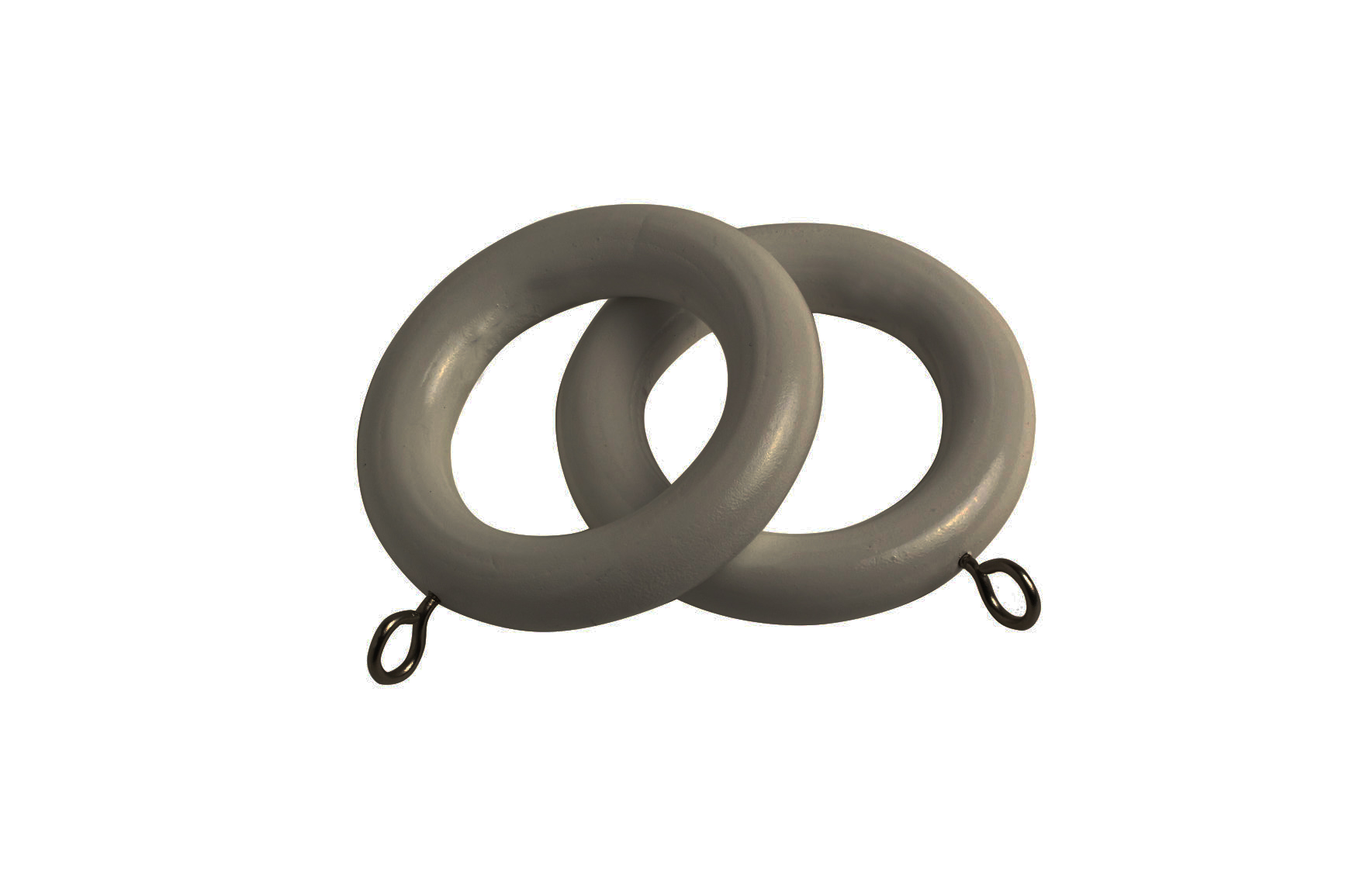 County 28mm Wooden Curtain Rings Urban Grey 4 - Pack