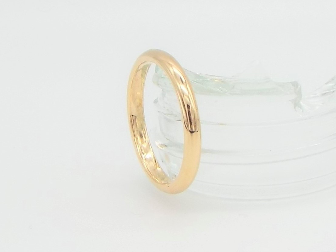 3mm D shaped Classic Gold Wedding Ring - 9ct Yellow Gold