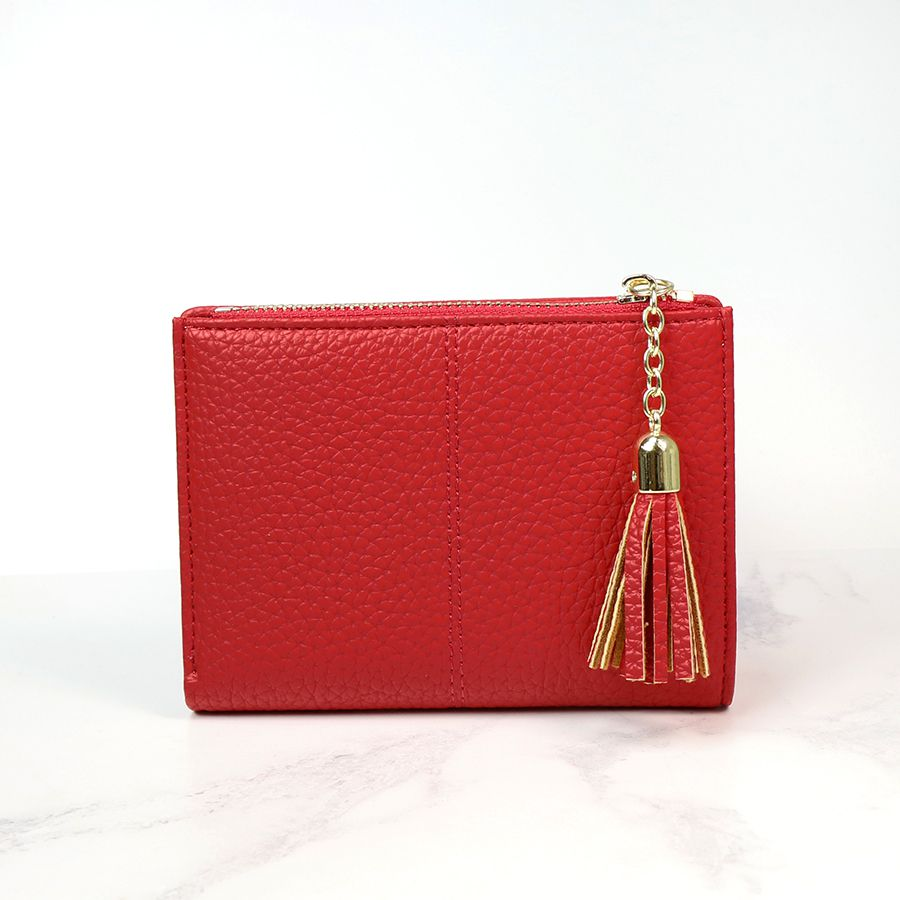 Red Faux Leather Purse - Small