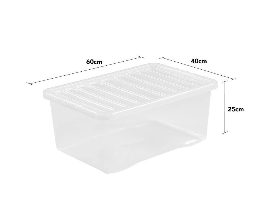 Wham Crystal 45L Box And Lid