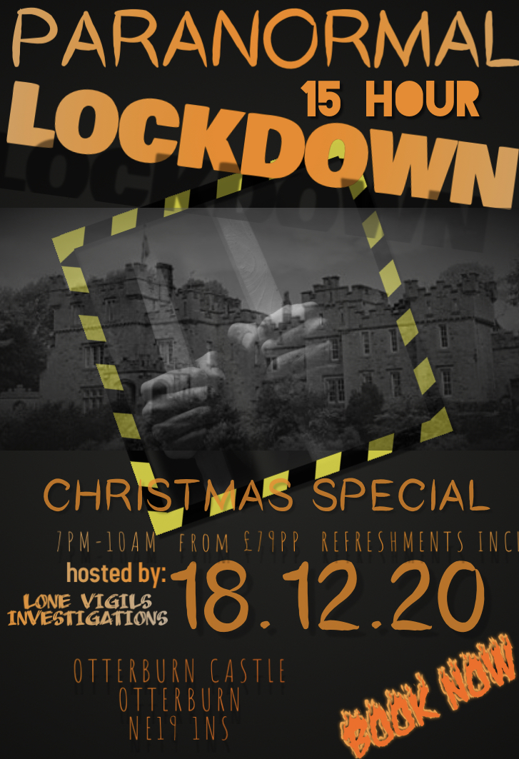 SOLD OUT: Christmas Special Otterburn Castle 15 Hour Lockdown Friday 18th December