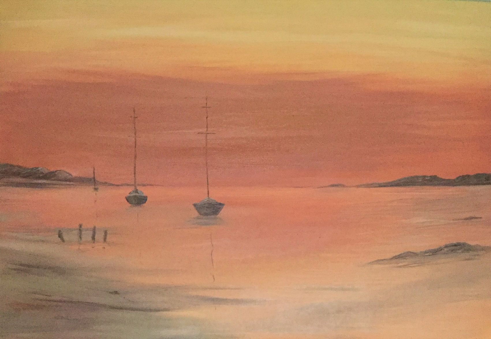 Oil painting by Dawn Owen artist at Clebran