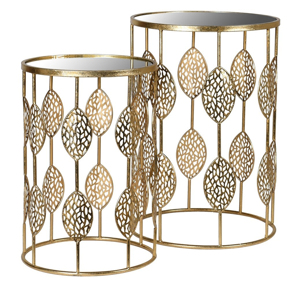 Gold Leaf Design Nest of Tables