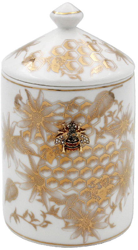 Gold Bee Candle Jar