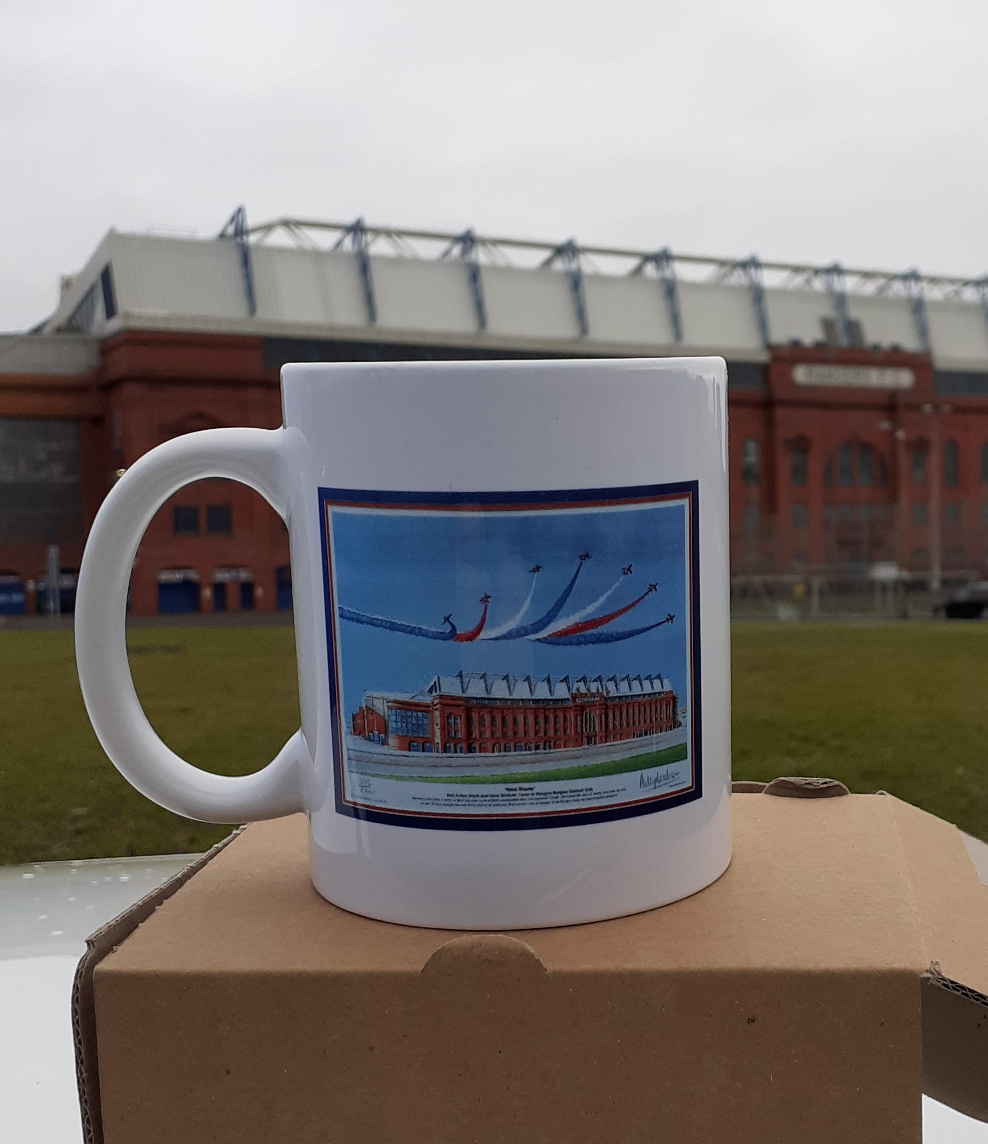 'Watching Over'/'Ibrox Display' Rangers FC coffee mug