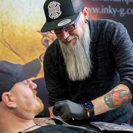 Working at Tattoo Freeze 2017