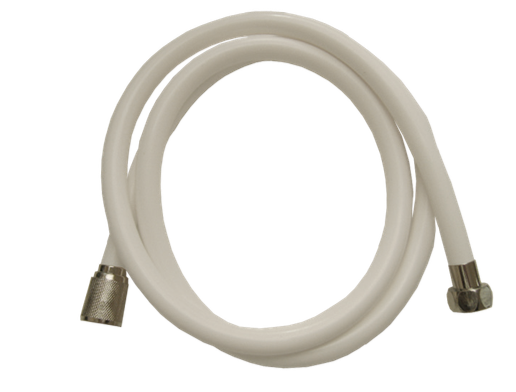 1.50m Shower Hose - White PVC
