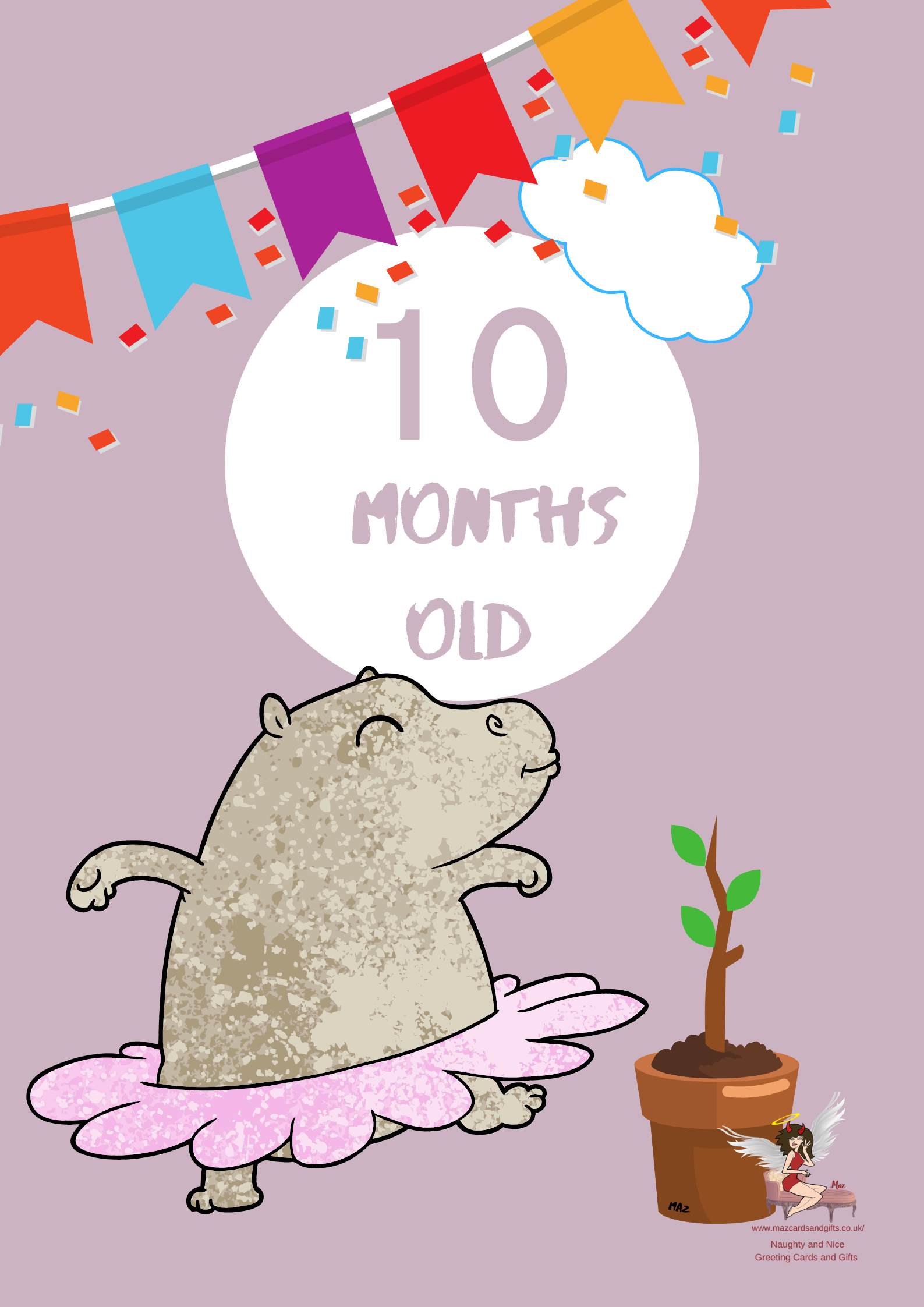 Children's Milestone Cards ~ Animals~ 10 Months old ~ Order No 279