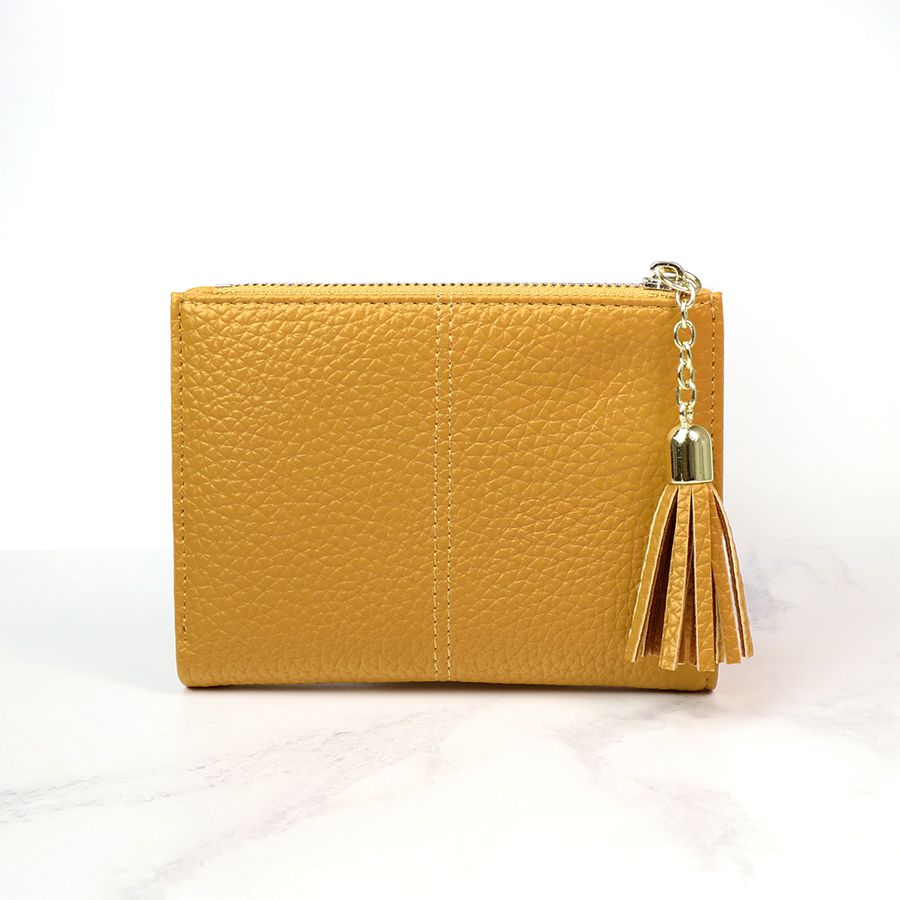 Mustard Faux Leather Purse - Small