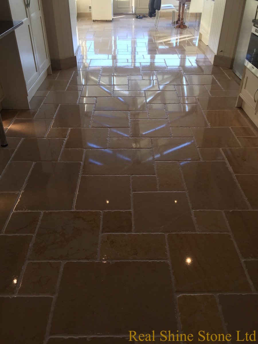 Picture after grout cleaning and polishing