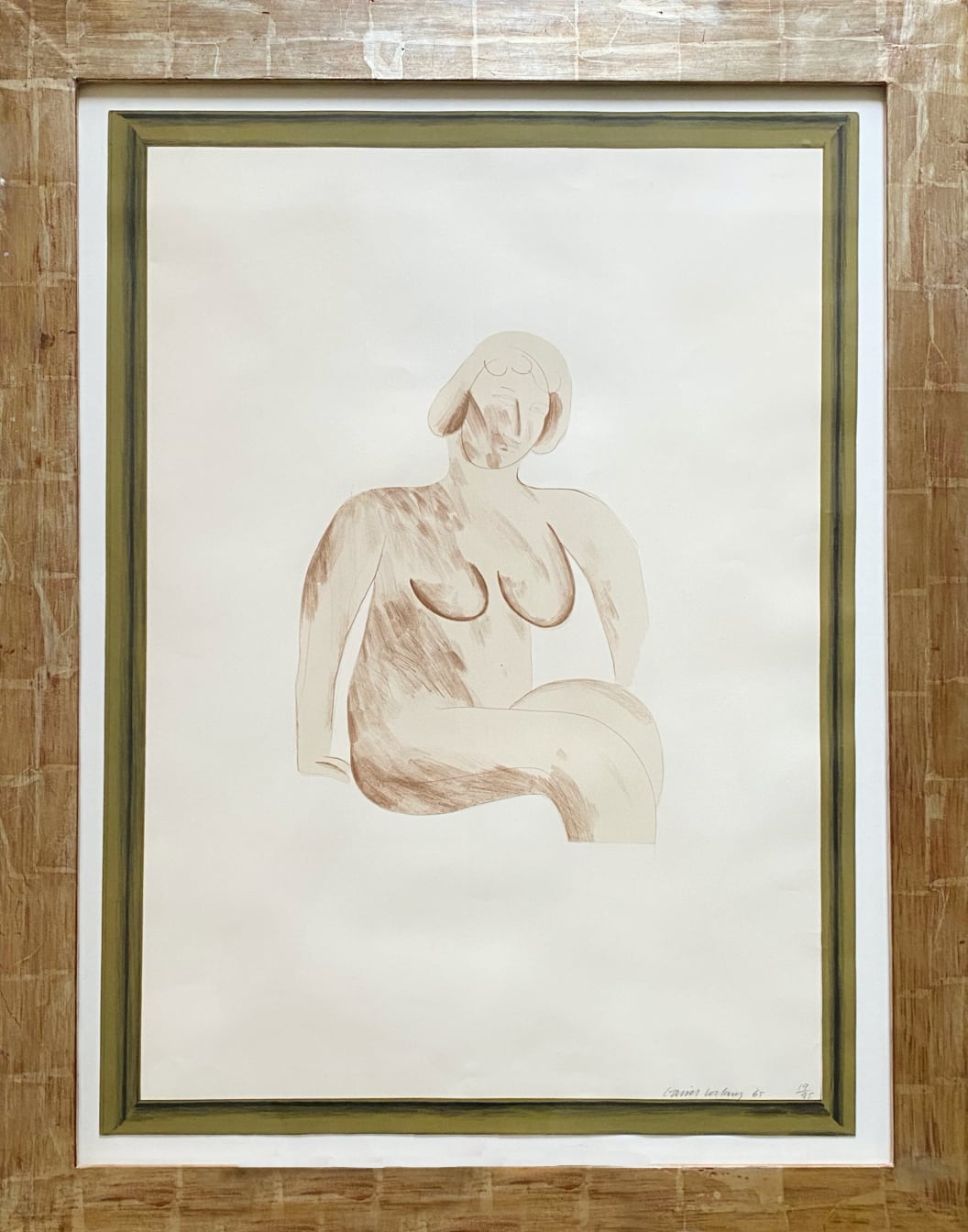 David Hockney - Picture of a Simple Framed Traditional Nude Drawing
