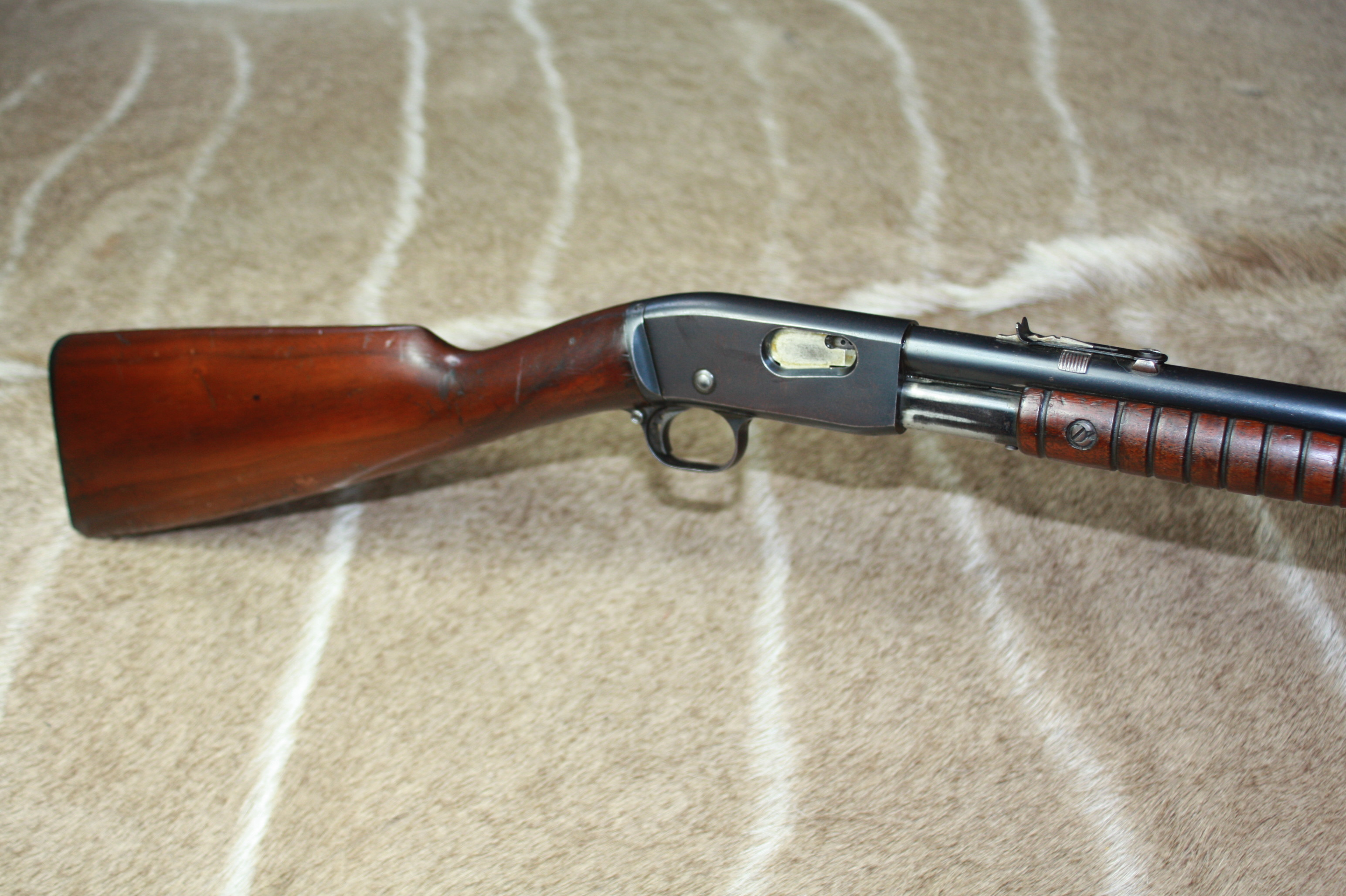 .22 LR Remington Model 12A pump action rifle