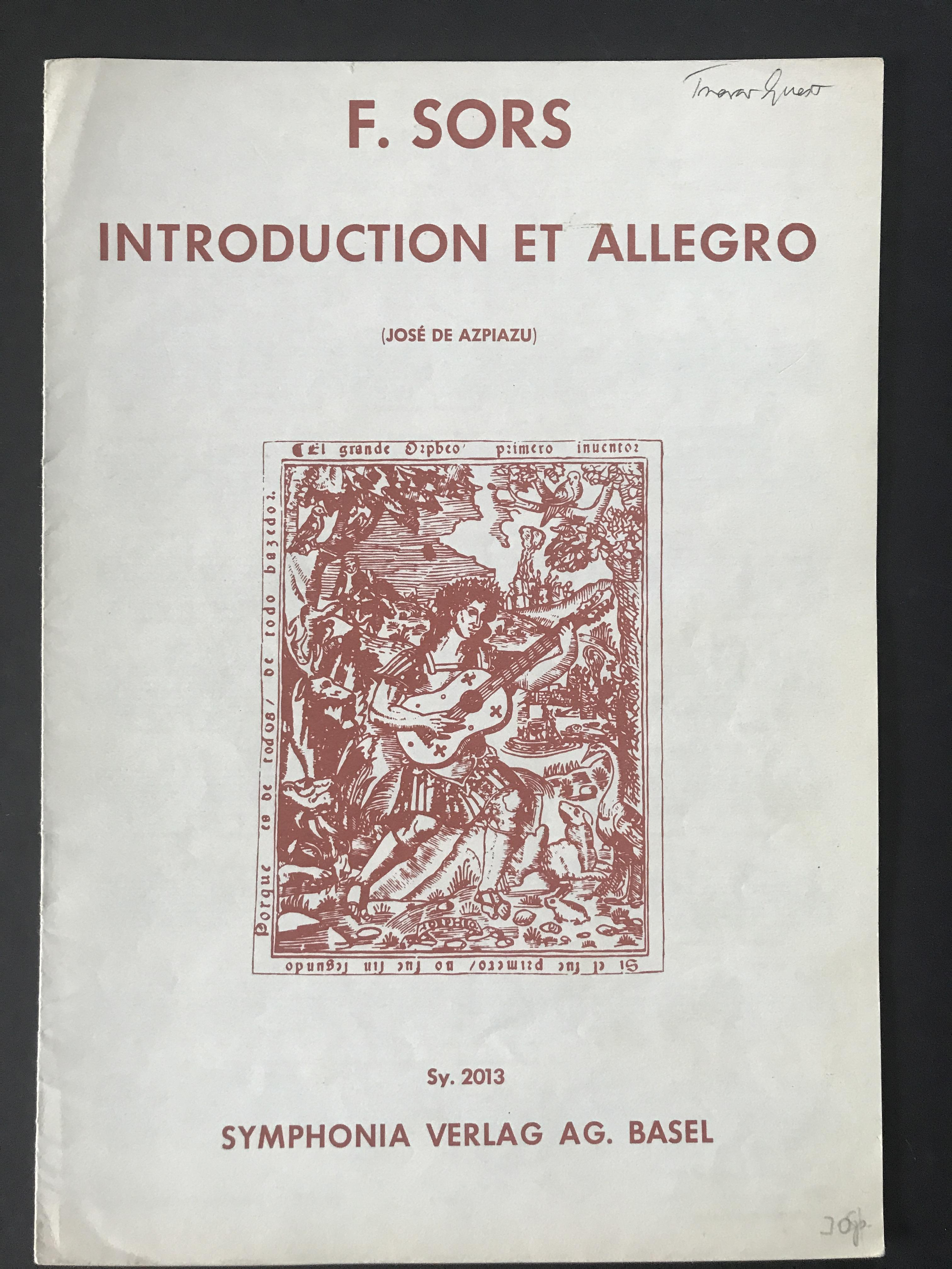 Introduction and Allegro by Fernando Sor