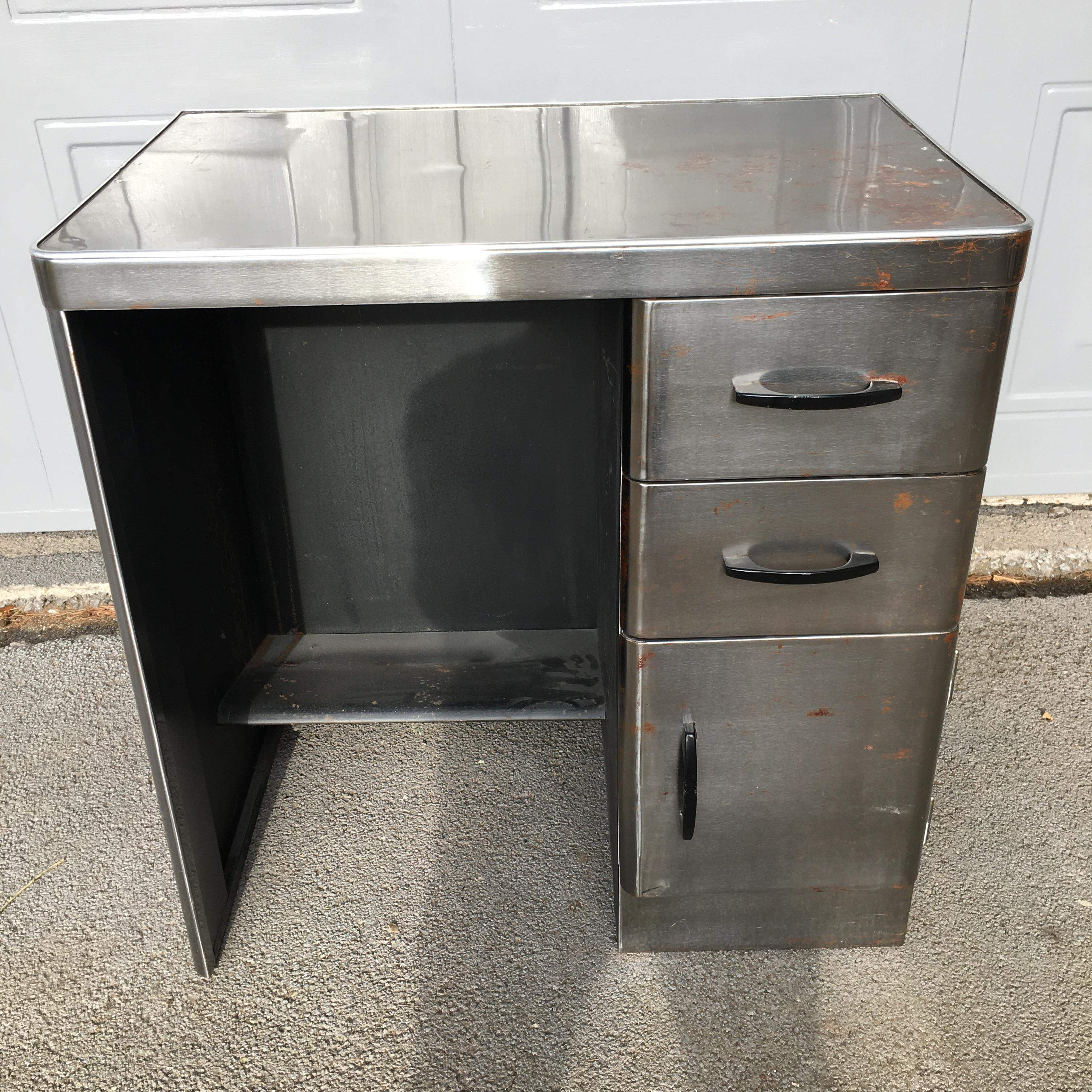 Industrial Metal Desk or Dressing Table c1950's SOLD
