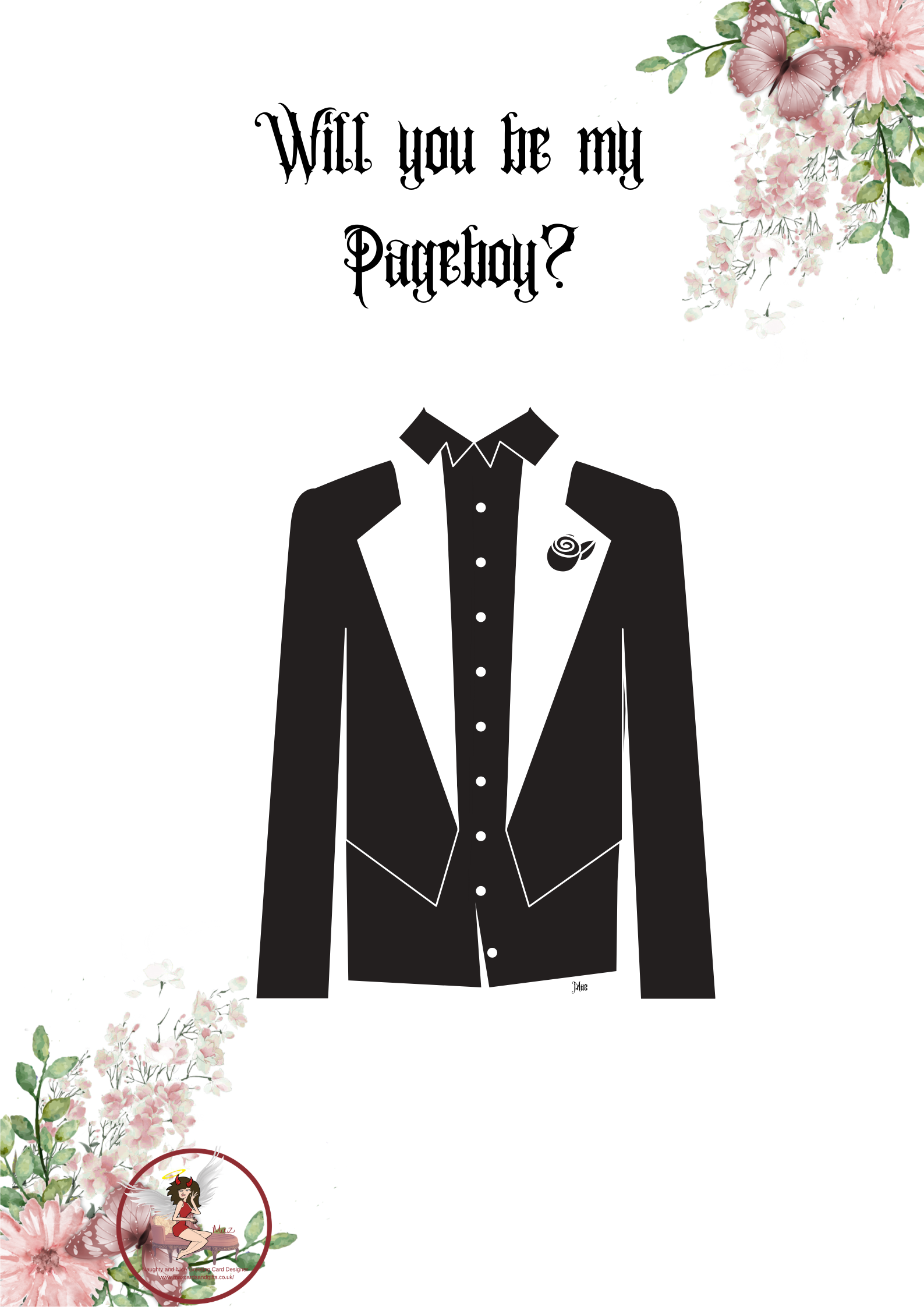 Will you be my Pageboy? ~ Order No ~ 210