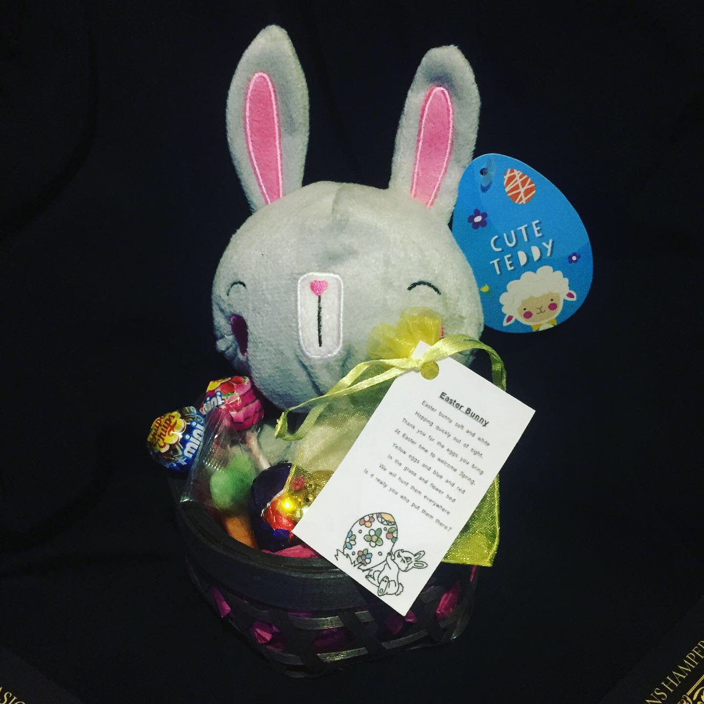 Mini Easter Bunny Charm Basket